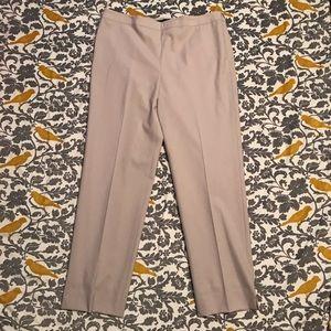 Lafayette 148 New York Tan Cropped Pants EUC Sz 10